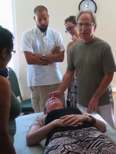 Dr. Halpern with ayurveda students